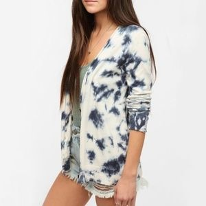 Staring at Stars Tie Dye Bleached Cardigan